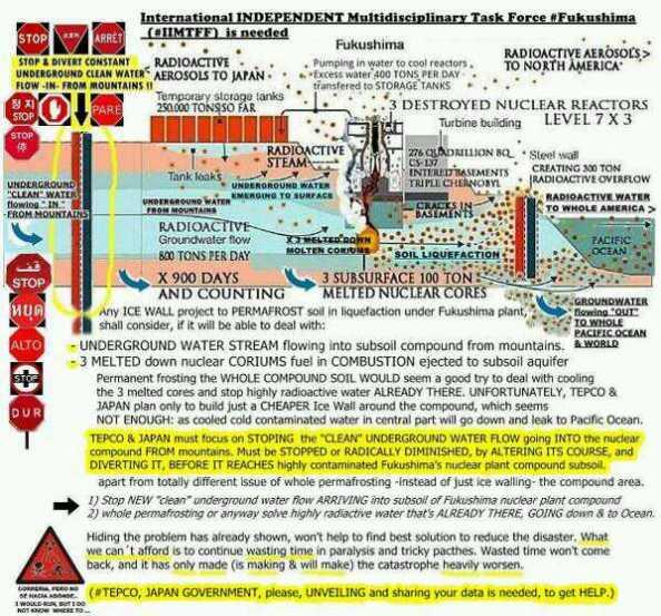 El agua sigue fluyendo en Fukushima