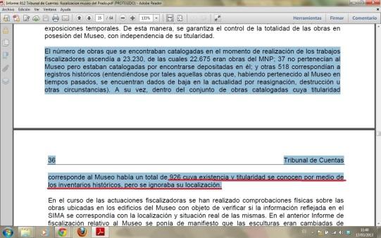 paginas 35 y 36 del informe del Tribunal de Cuentas