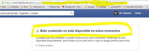 pagina de FB donde el Sr Arnau de la nuez publicaba datos de los supuestos escandalos del Rey