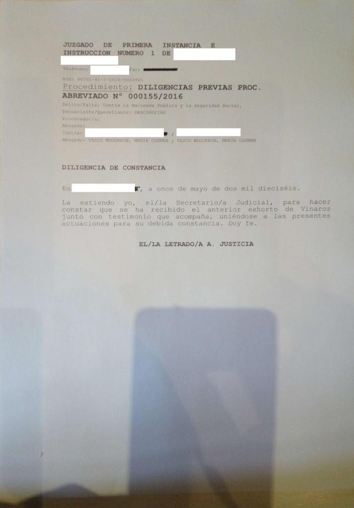 Comunicado sobre mi ex abogada Maria del Carmen Vasco Mogorrón