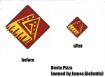 besta pizza cambio logos