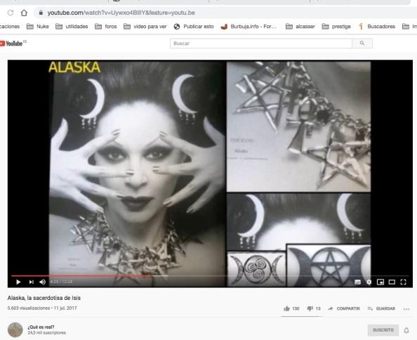 Alaska, la sacerdotisa de Isis