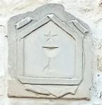 Símbolo cristiano antiguo estrella 5 puntas detalle