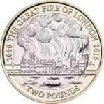 moneda UK 1666