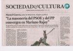 Masonería PP y PSOE Mariano Rajoy