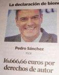 Declaración de bienes de Pedro Sánchez presidente