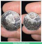 Moneda Isabel segunda macho cabrio