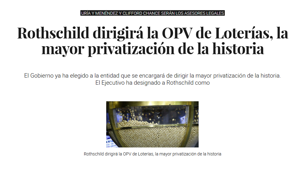 Screenshot_2019-12-24 Rothschild dirigirá la OPV de Loterías, la mayor privatización de la historia