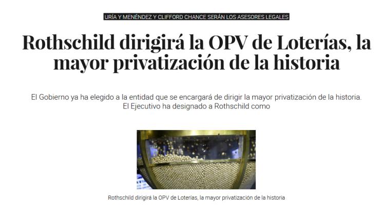 Screenshot_2019-12-24 Rothschild dirigirá la OPV de Loterías, la mayor privatización de la historia