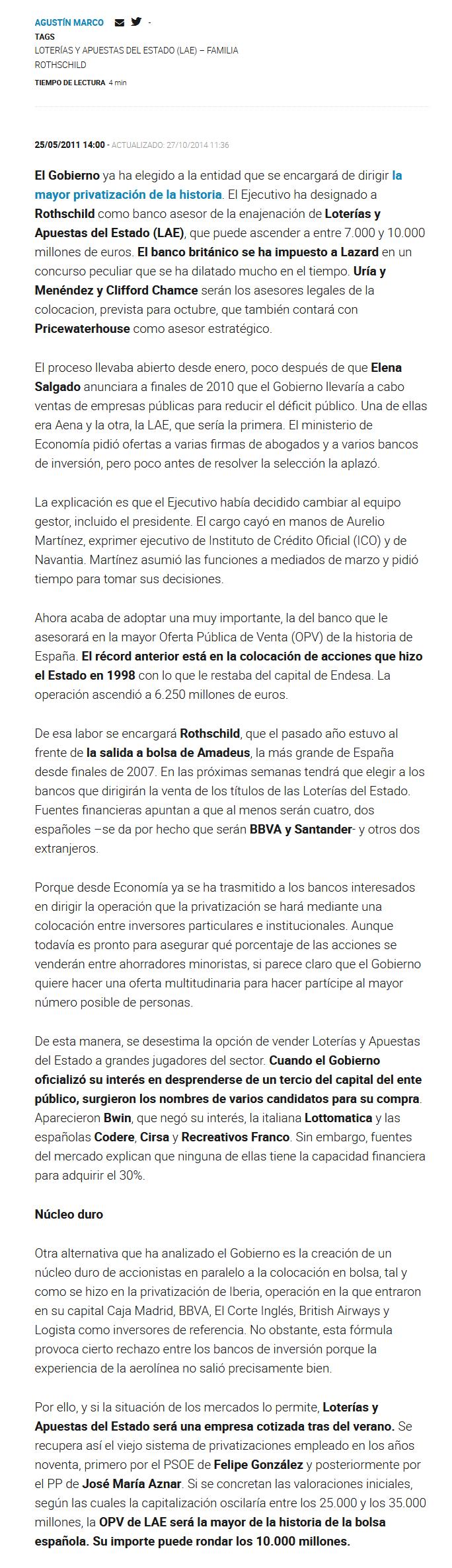 Screenshot_2019-12-24 Rothschild dirigirá la OPV de Loterías, la mayor privatización de la historia(1)
