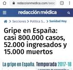 002 muertes por gripes en España